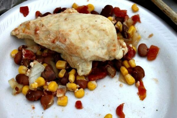 Santa Fe Chicken Packet for Camping - Cook it in the Slow Cooker!