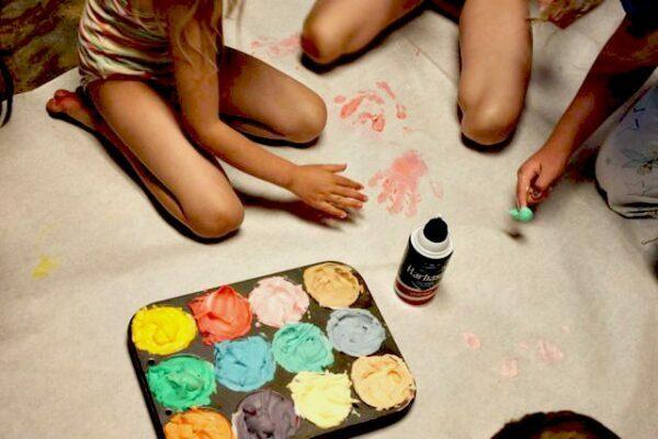 Shaving Cream Finger Paint 2