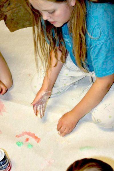 Shaving Cream Finger Paint 4