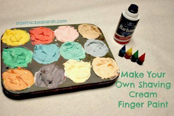 How to Make Shaving Cream Finger Paint