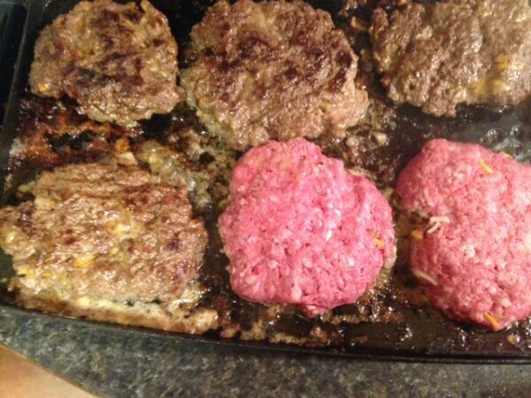 Bacon Double Cheese & Onion Stuffed Burgers