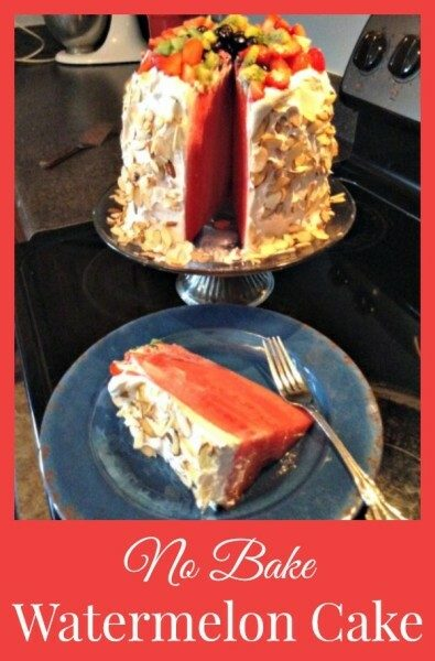 No Bake Watermelon Cake - SidetrackedSarah.com