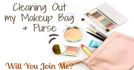 Makeup Bag & Purse - Cleaning it out.