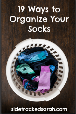 19 Ways to Organize Socks - SidetrackedSarah.com