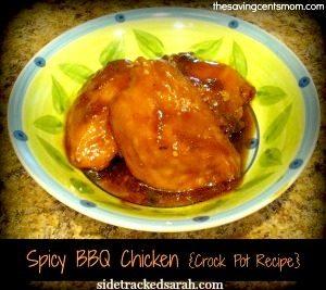 Spicy BBQ Chicken Slow Cooker Recipe