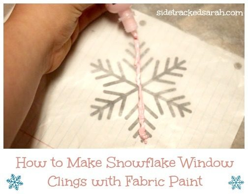 How to Make a Snowflake Window Cling