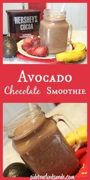 Avocado Chocolate Smoothie - Pinterest