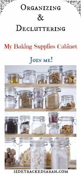 Organizing my Baking Supplies Cabinet - SidetrackedSarah.com