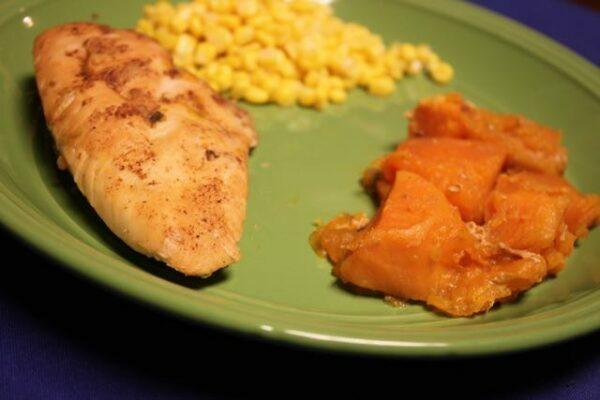Maple Glazed Chicken & Sweet Potatoes in the Slow Cooker