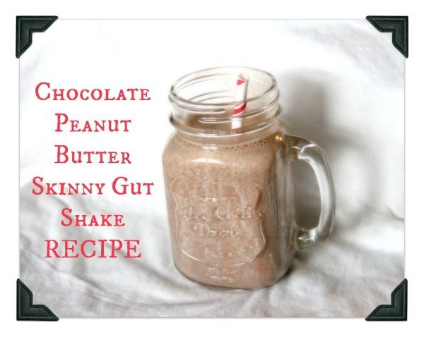 Chocolate Peanut Butter Skinny Gut Shake Recipe