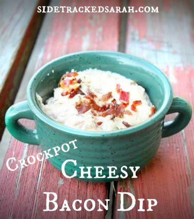 Crockpot Cheesy Bacon Dip