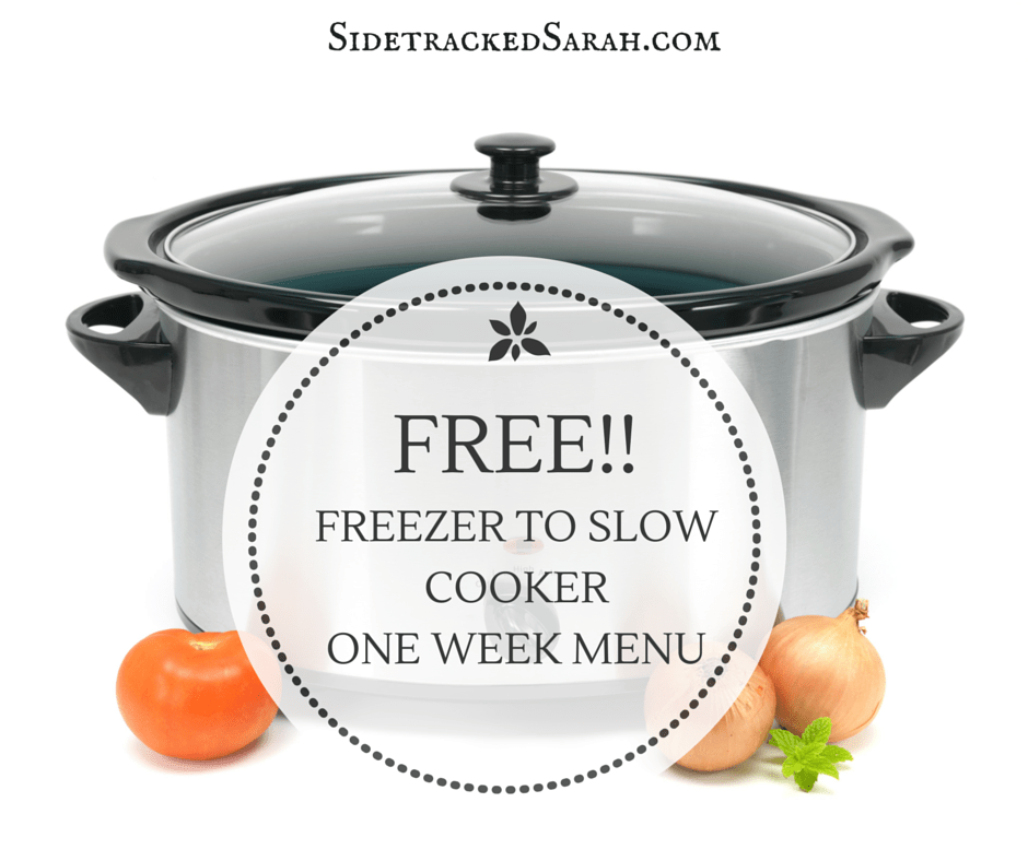 Free Freezer to Slow Cooker Menu Graphic