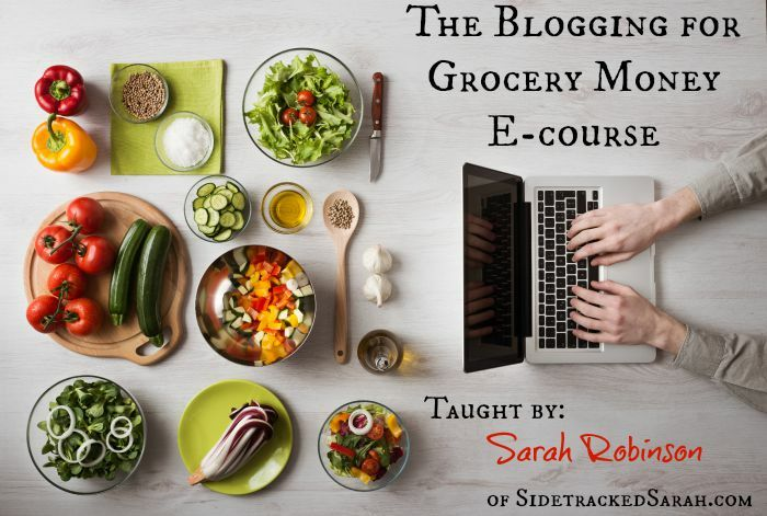 Blogging for Grocery Money Ecourse