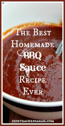 Easy Homemade BBQ Sauce Recipe - Best BBQ sauce.