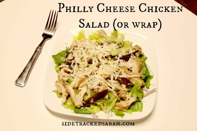 Philly Cheese Chicken Salad