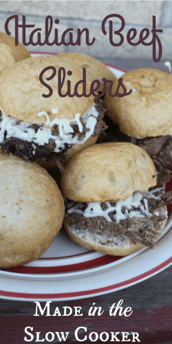Italian Beef Sliders - Pin This