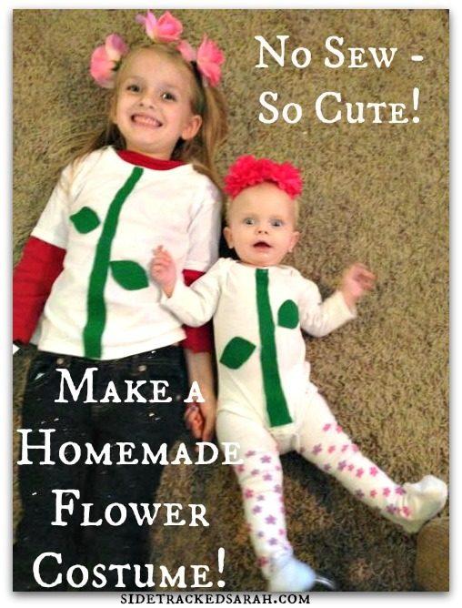 How to Make a Homemade Flower Costume!