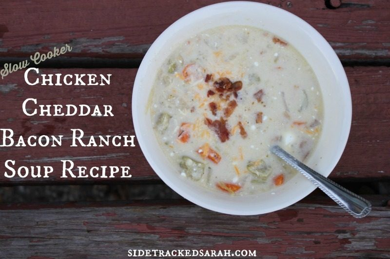 Chicken Cheddar Bacon Ranch Soup Recipe