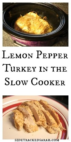 Lemon Pepper Turkey in Slow Cooker