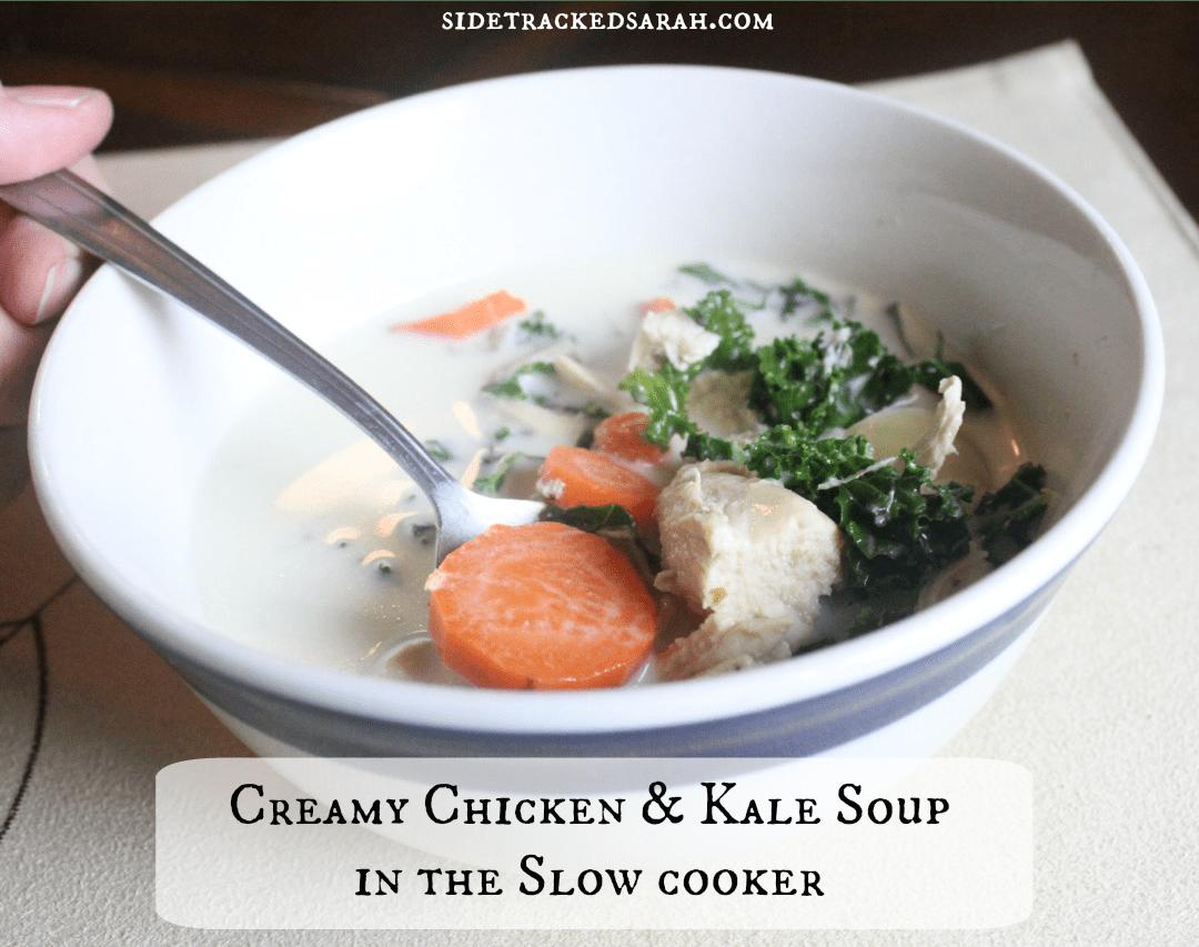 Creamy Chicken & Kale Soup Recipe