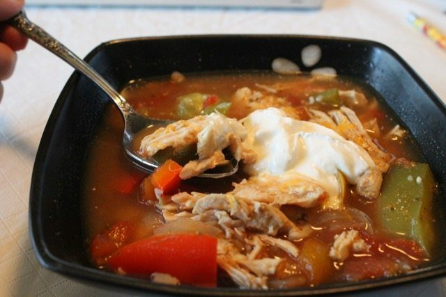 Chicken Fajita Soup Low Carb