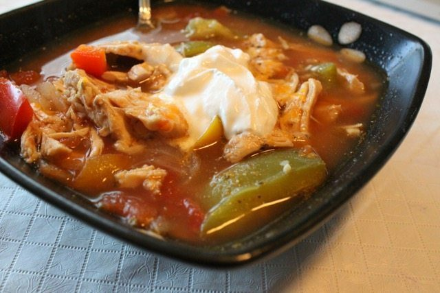 Low Carb Chicken Fajita Soup