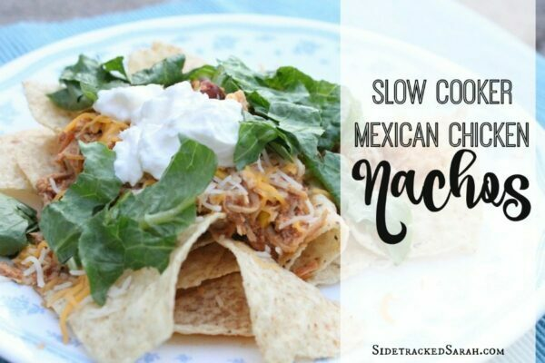 Slow Cooker Mexican Chicken Nachos - YUM!