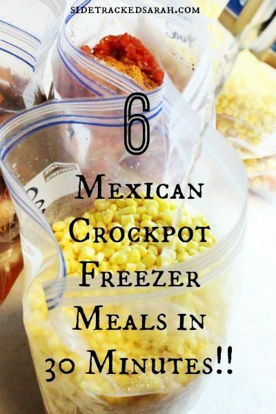 Mexican Crockpot Freezer Meals