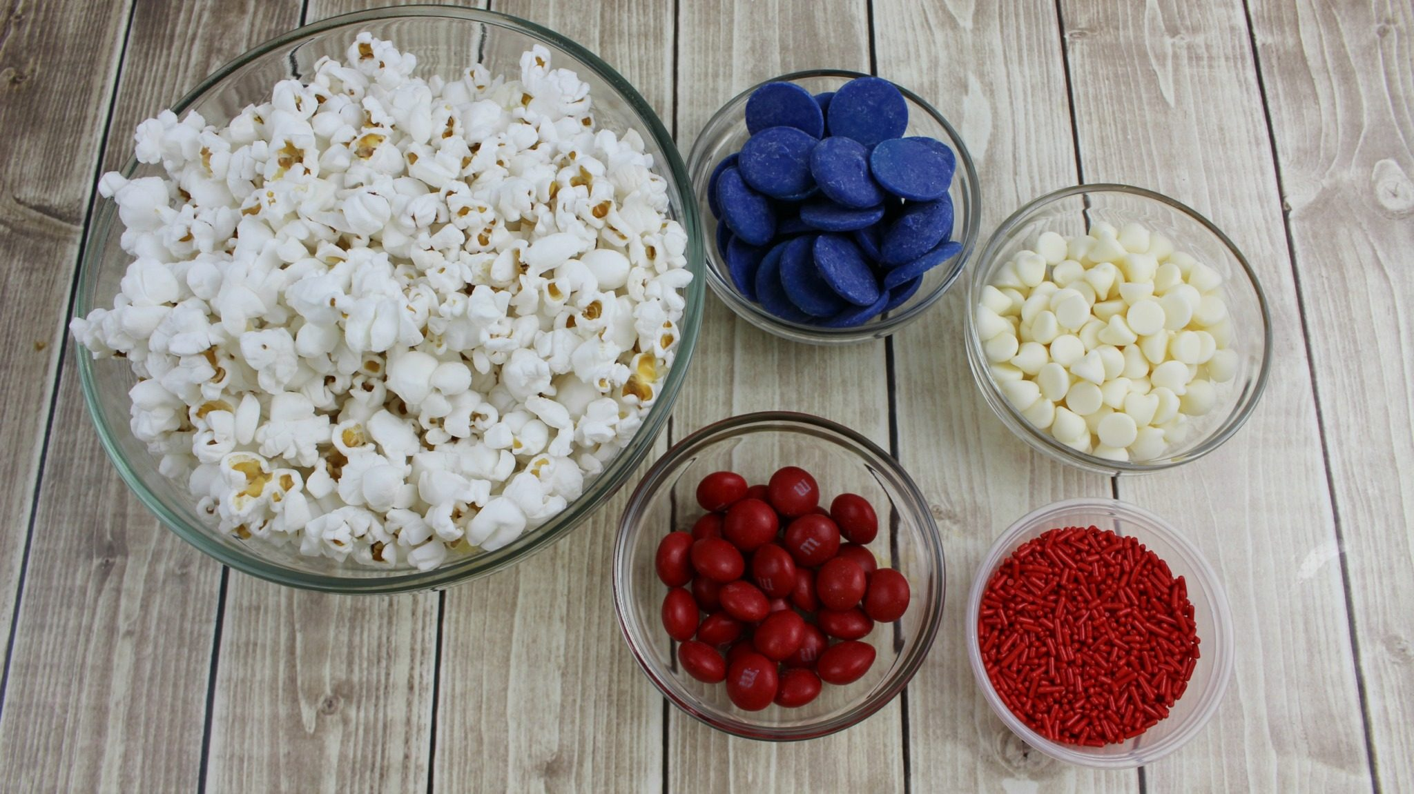 Patriotic Popcorn Ingredients
