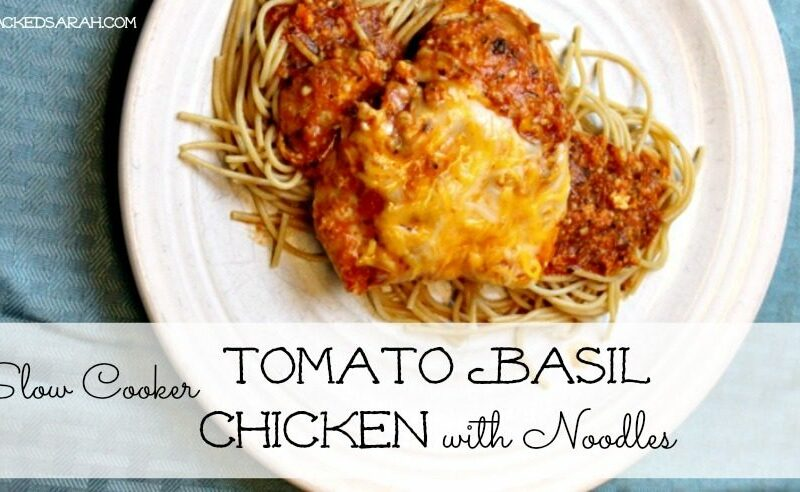 Slow Cooker Tomato Basil Chicken & Pasta (LOW CARB OPTION)