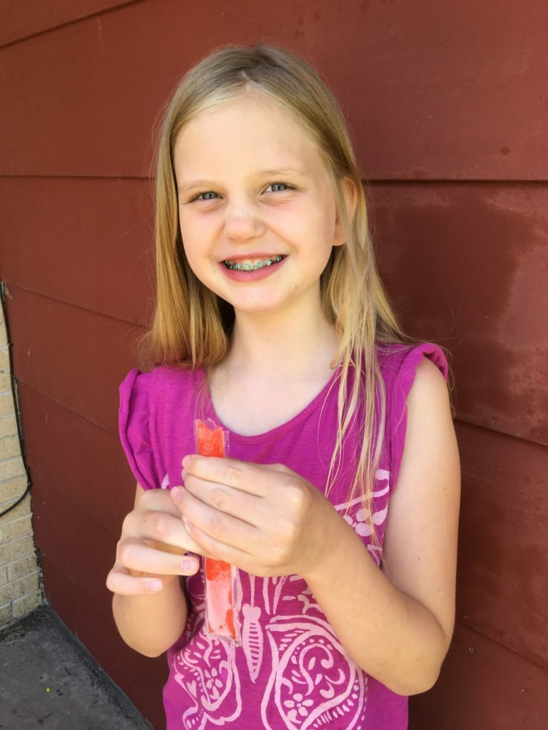Savannah Eating Popscicle