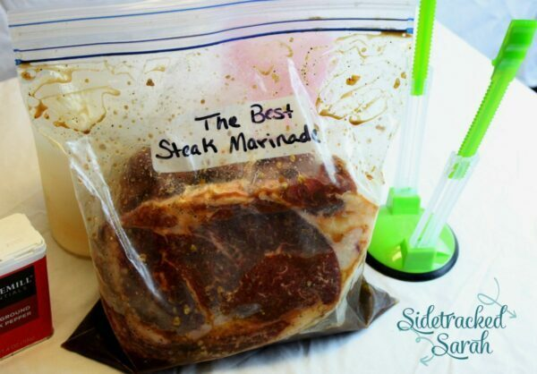 The Best Steak Marinade for Slow Cooker or Grill in a Freezer Bag.