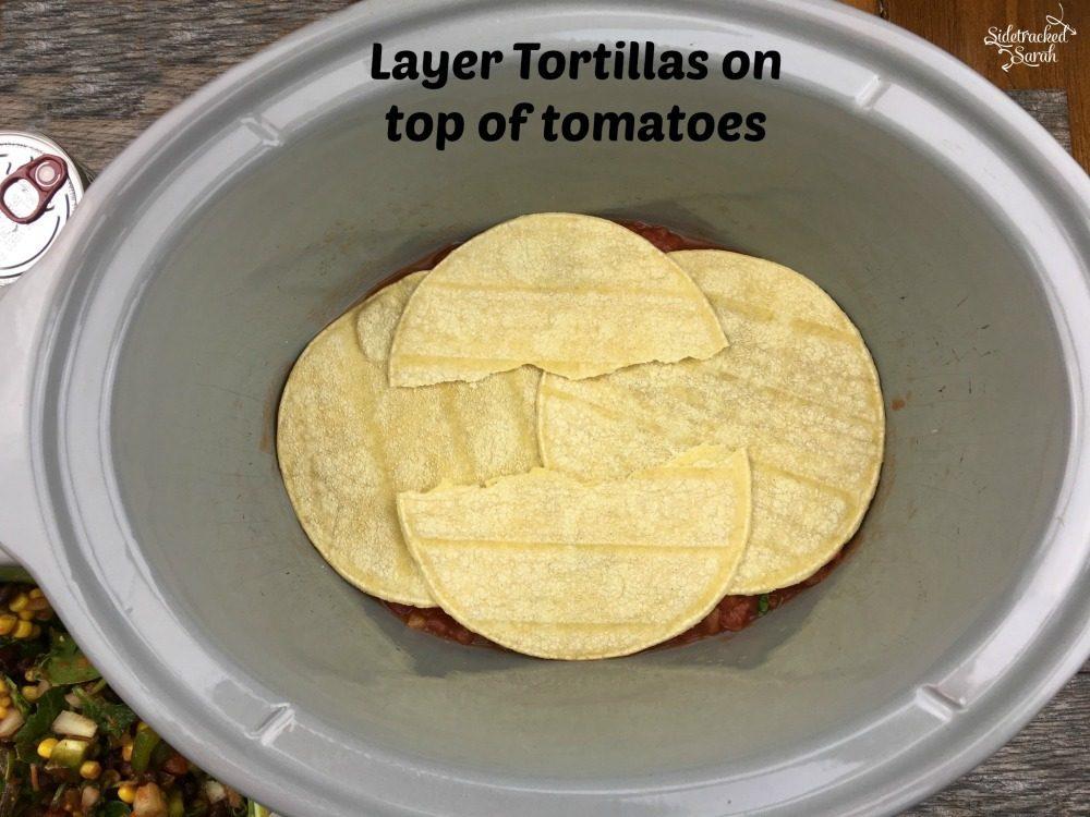 Mexican Lasagna - Corn Torilla Layer