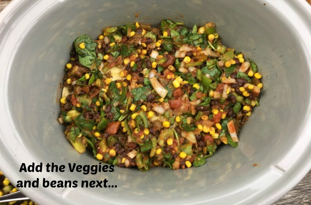 Mexican Lasagna - Veggie Bean Layer