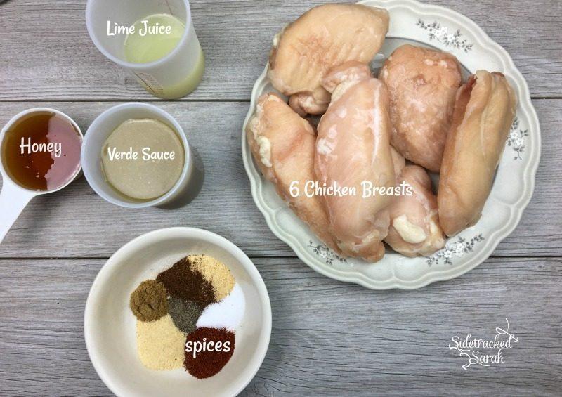 Slow Cooker Salsa Verde Honey Lime Chicken Nachos