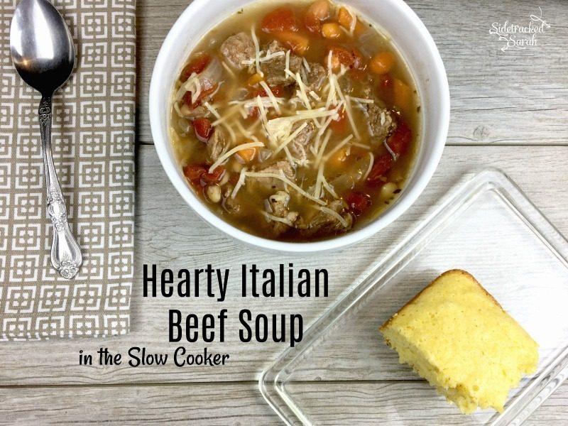 Slow Cooker Italian Beef Soup