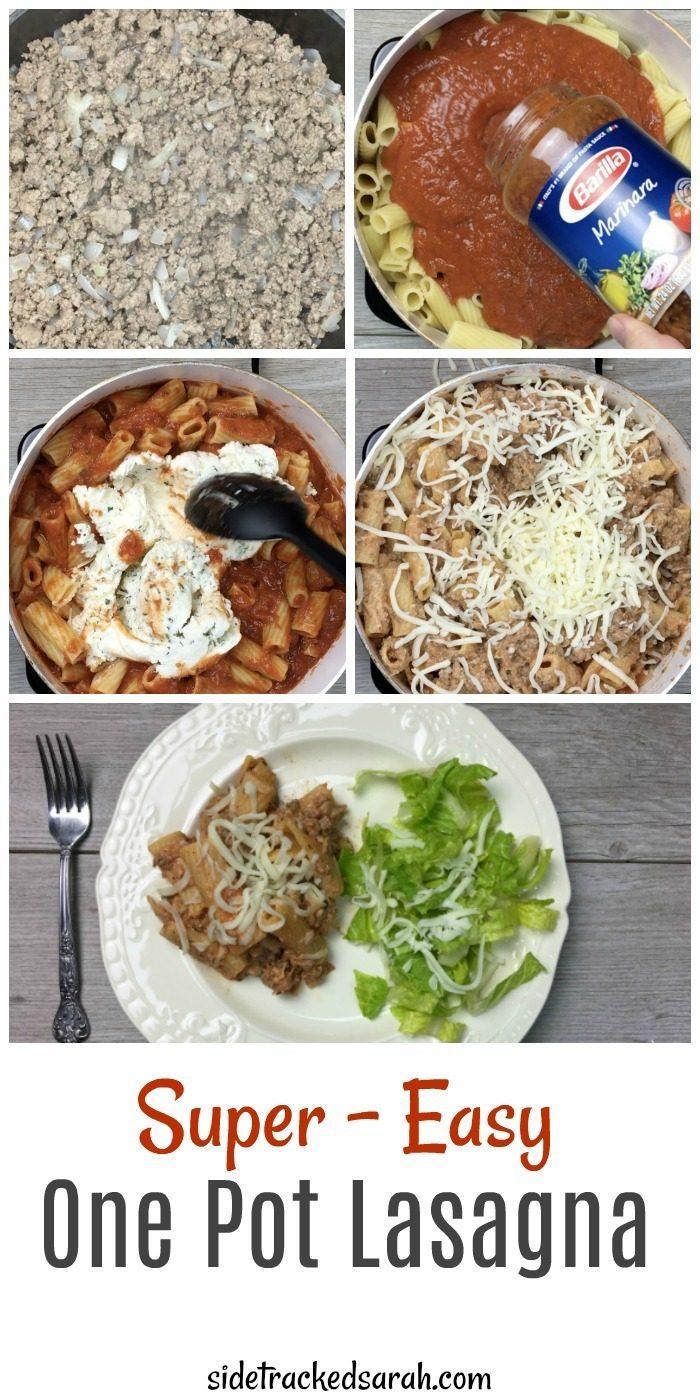 One Pot Lasagna Recipe