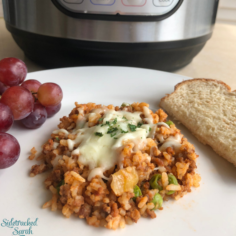 Instant Pot Ground Beef Rice Sidetracked Sarah