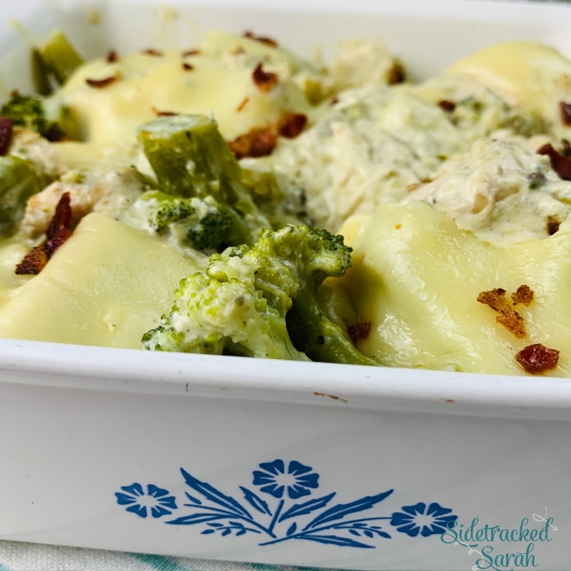 Healthy Chicken Broccoli Casserole with Bacon | Low Carb & Keto