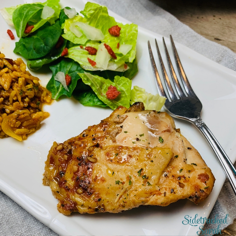 The Best Slow Cooker Chicken Thighs Recipe Sidetracked Sarah
