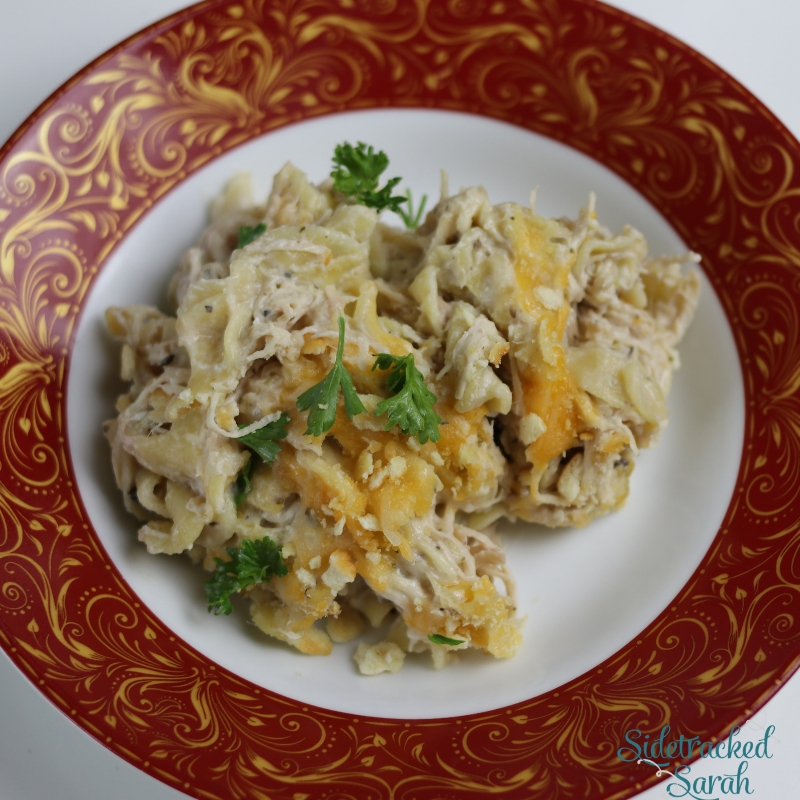 Slow Cooker Chicken Noodle Casserole
