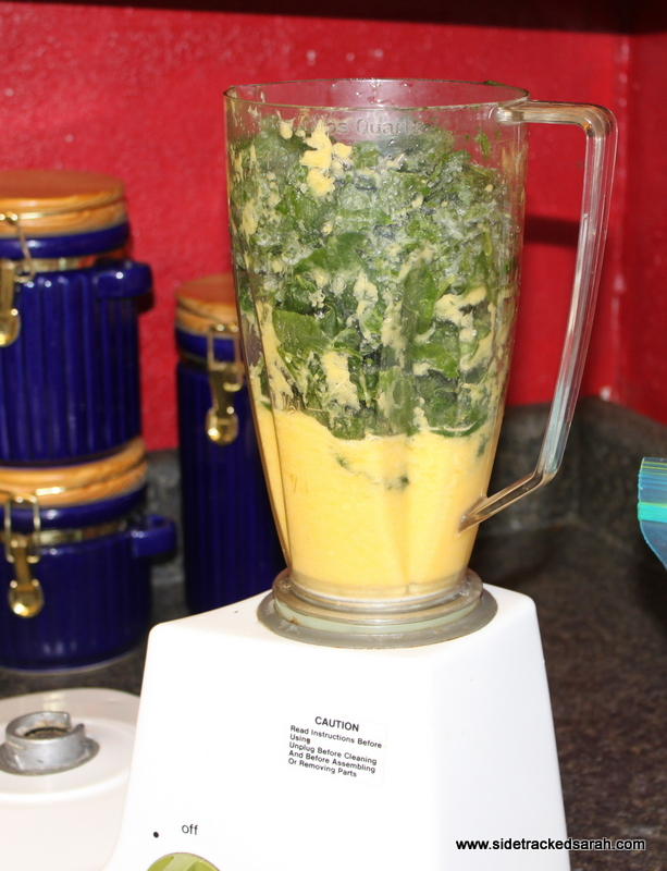 Green Smoothie, after adding the spinach.