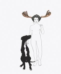 """Lauren Levato Coyne """"Self Portrait as Prophet"""" 17"""" x 14"""" SOLD"""