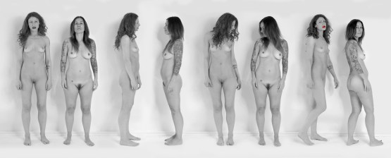 "Nadine Robbins ""Line-up"" Photo on Archival paper 15.5"" x 39"" $750 +tax and shipping"