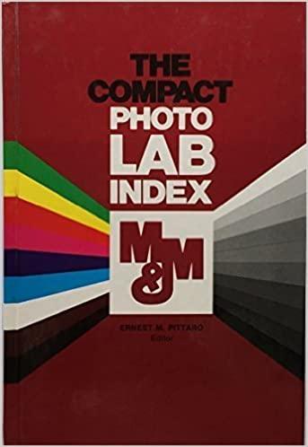 Book Cover: Compact Photo Lab Index,  ed. E Pittaro