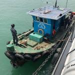 KRI Krait-827 Tangkap Kapal Tanpa Dokumen Di Perairan Durian Kepri