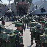 KRI TELUK HADING-538 ANGKUT 2 BATALYON,SATGAS PAMTAS RI – MALAYSIA