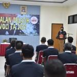 Kapusjaspermildas TNI Berikan Pengarahan Akhir Kepada Peserta Pelatih Bola Voli