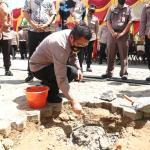 Progress Pembangunan Gedung C,Kapolres Kukar Pimpin Peletakan Batu Pertama