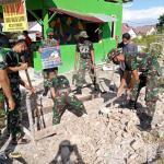 Jaga Kebersihan Lingkungan, Batalyon Infanteri 642/Kapuas Bersama Warga